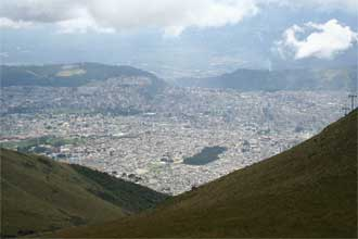 Quito from Teliferico